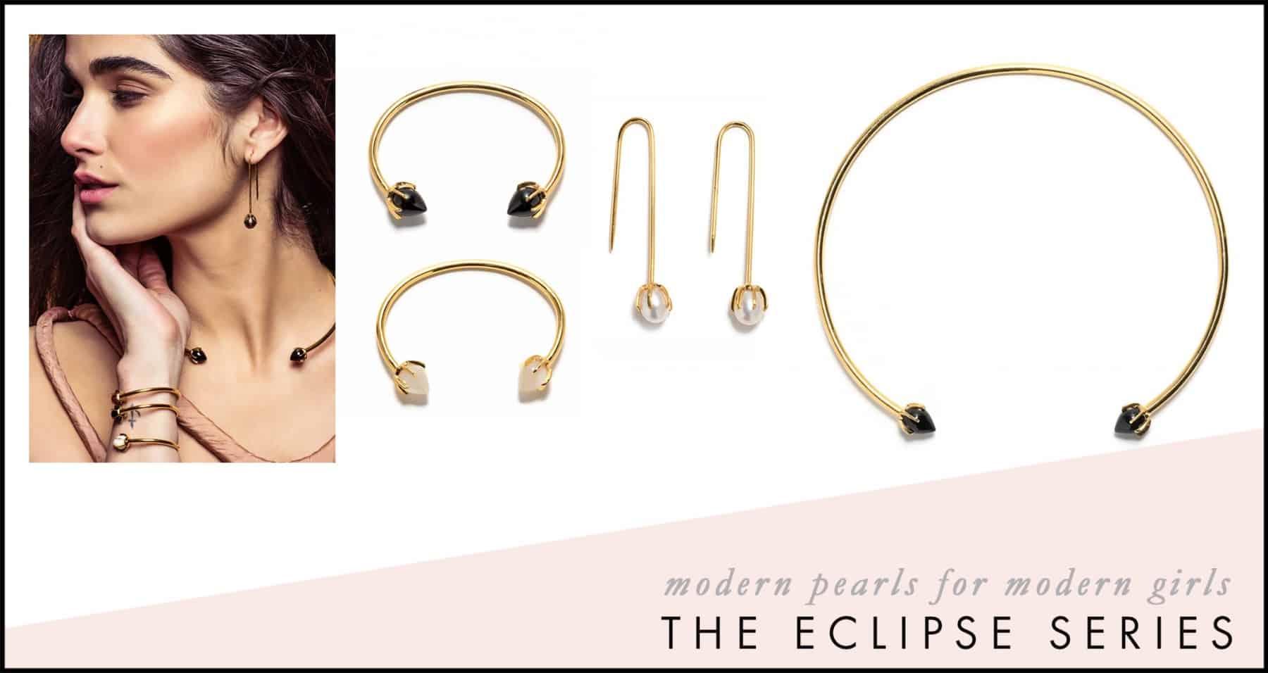 Eclipse Necklace Neiman Marcus Saks Pearls Wire Collar